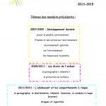 PROPOSITION DE THEMES POUR MANDAT 13-15