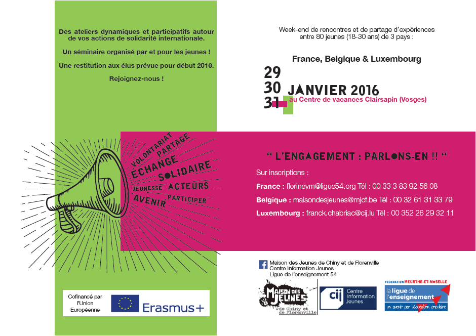 Flyer Week-end Erasmus +