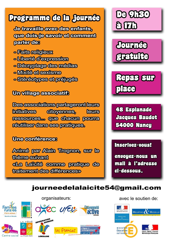 Forum laicité plaquette info verso